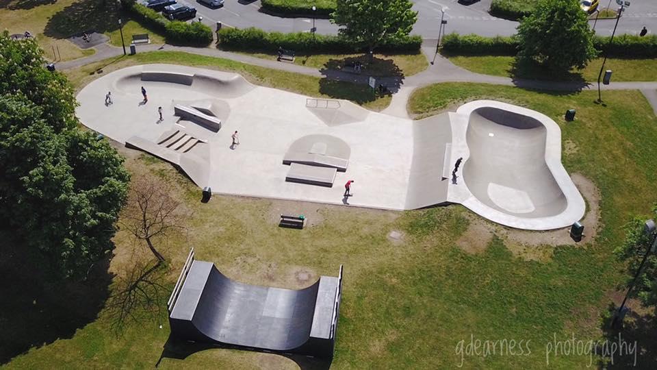 Ealing Skatepark - Aerial View